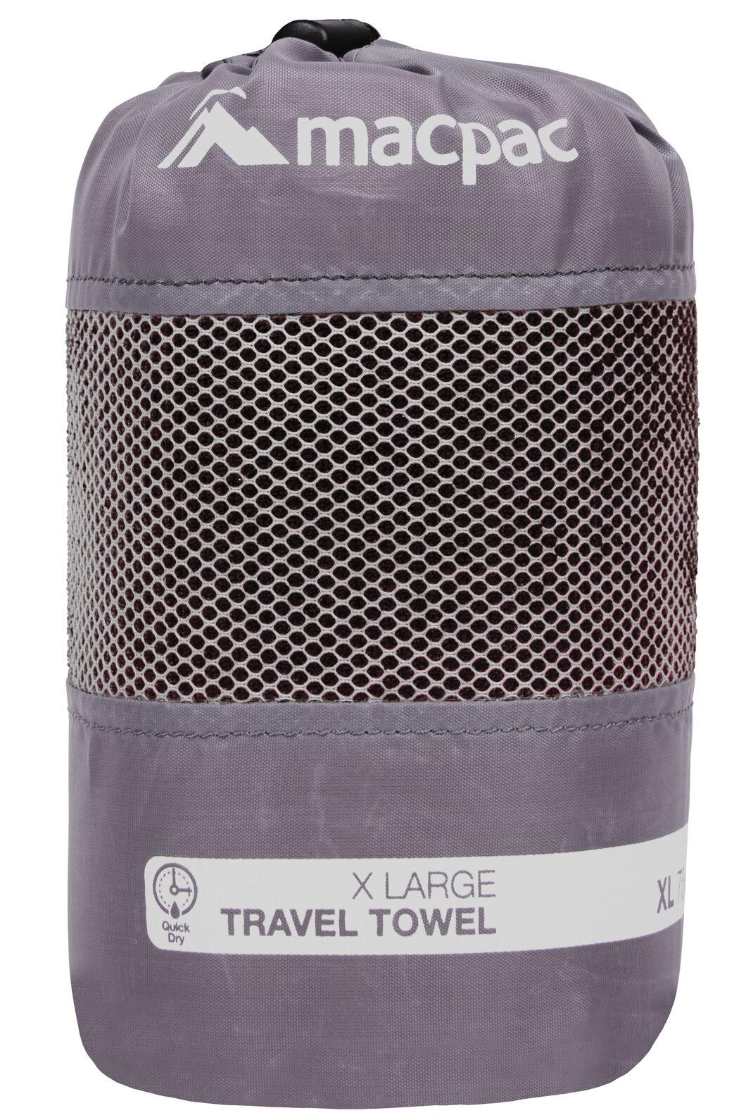 Macpac Travel Towel XL, Black, hi-res