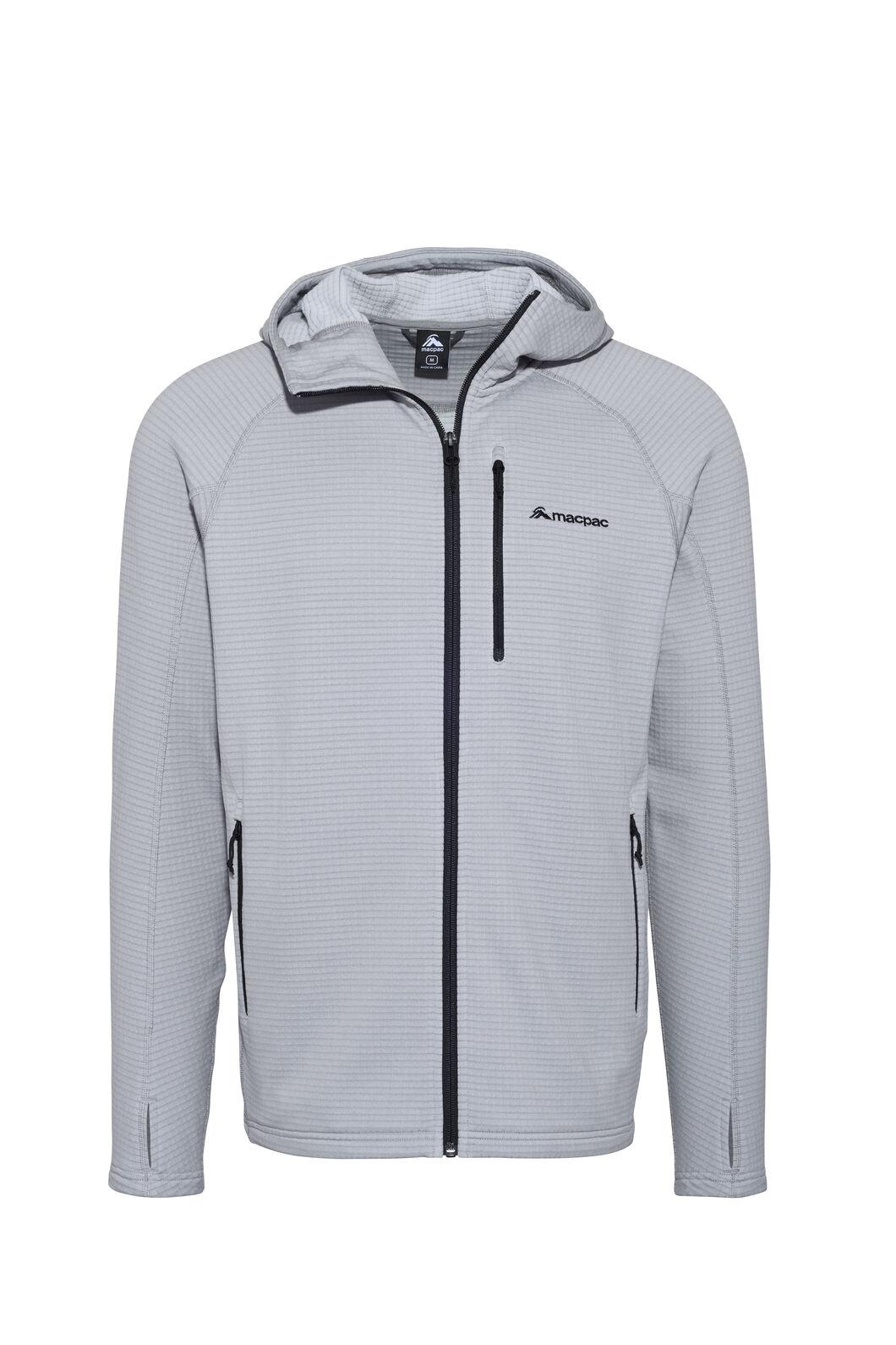 Macpac Ion Polartec® Fleece Hooded Jacket — Men's, Alloy, hi-res