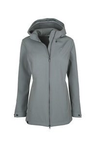 Macpac Chord Softshell Hooded Jacket — Women's, Monument, hi-res