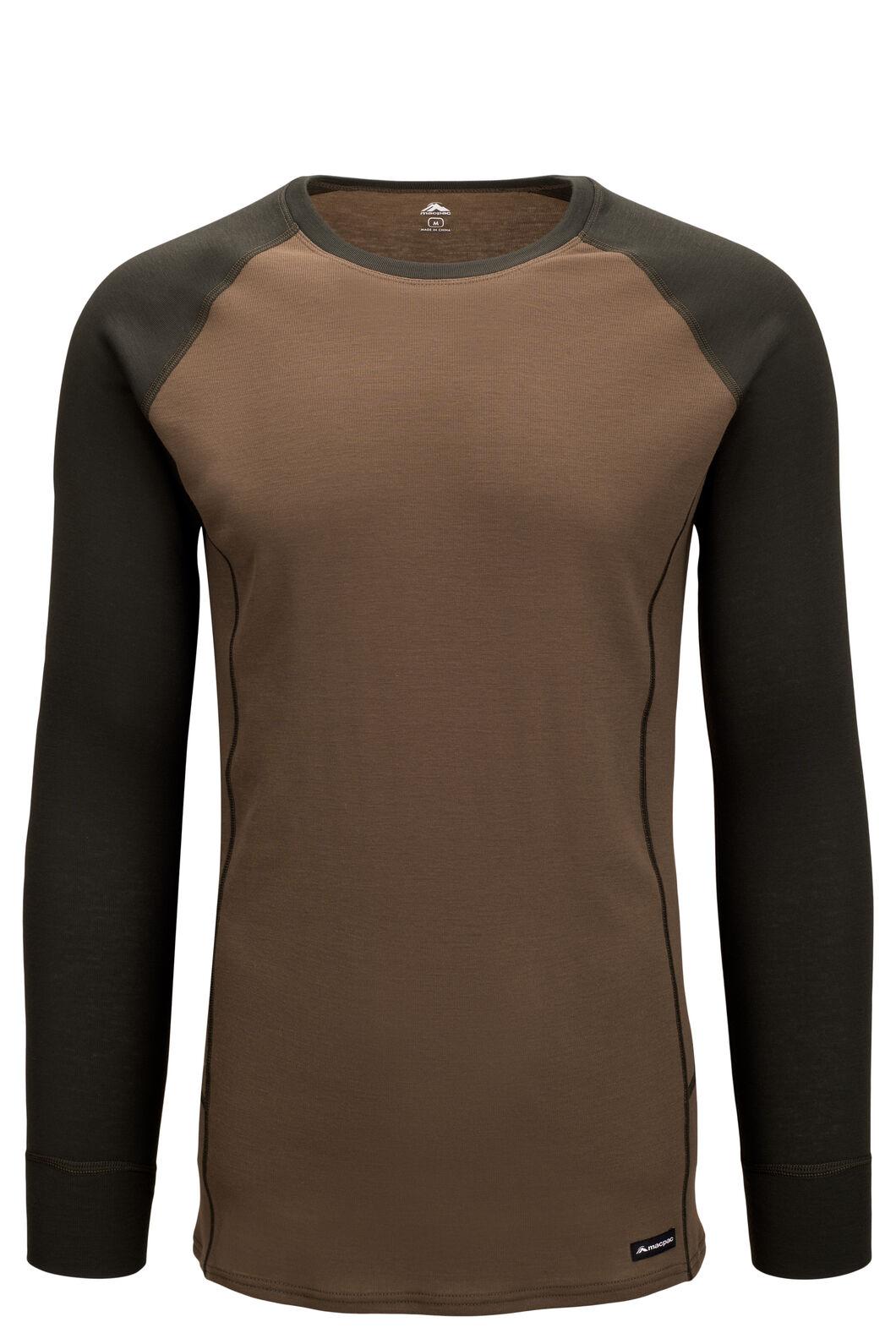 Macpac Men's Geothermal Long Sleeve Top, Rosin/Tarmac, hi-res