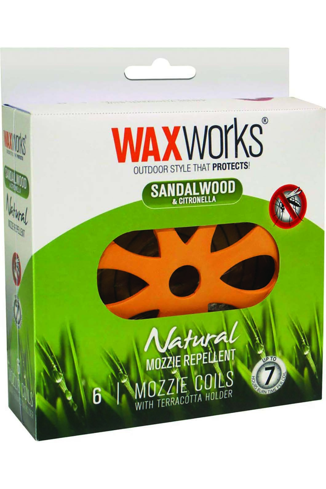 Waxworks 6 Pack Citronella & Sandalwood Coils, None, hi-res