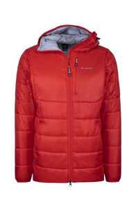 Macpac Pulsar Plus Hooded PrimaLoft® GOLD Jacket - Men's, Flame Scarlet, hi-res