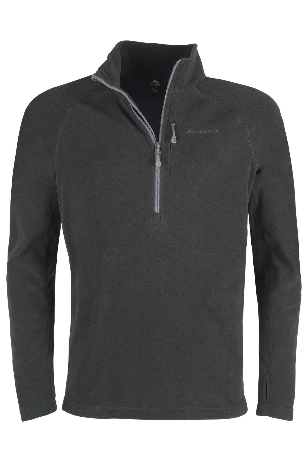 Macpac Tui Polartec® Micro Fleece® Pullover — Men's, Black, hi-res