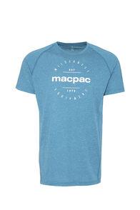 Macpac Polycotton Tee - Men's, Blue Coral, hi-res