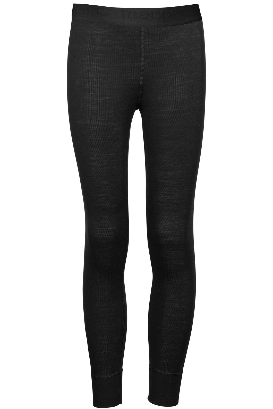 Macpac 220 Merino Long Johns - Kids', Black, hi-res