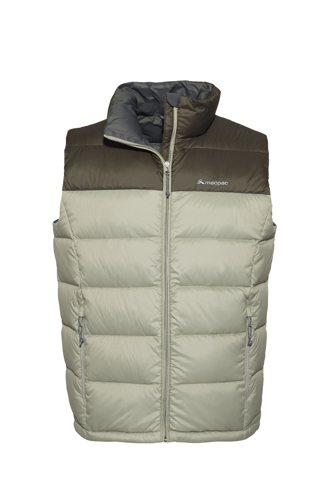 Macpac Halo Down Vest - Men's, Black Olive/Vetiver, hi-res