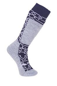 Macpac Tech Ski Sock - Kids', Lavendar/Medieval, hi-res