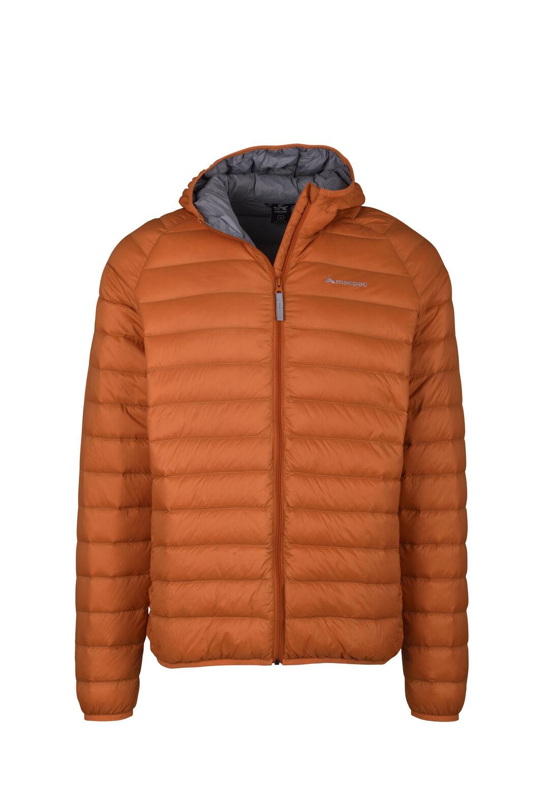 Macpac Uber Hooded Down Jacket - Men's, Burnt Orange, hi-res
