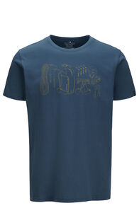 Macpac Gear Fairtrade Organic Cotton Tee — Men's, Orion Blue, hi-res