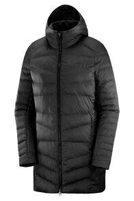 Salomon Sight Storm Hoodie Women's Insulated Coat, Ebony, hi-res