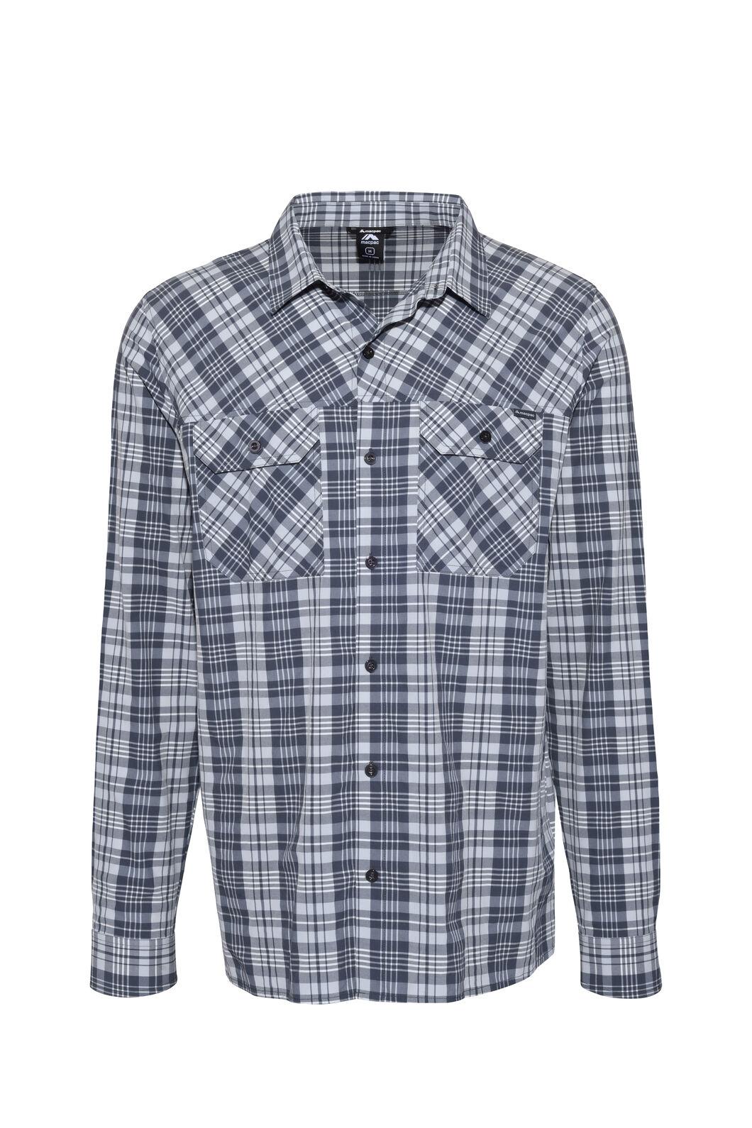 Macpac Eclipse Long Sleeve Shirt — Men's, India Ink, hi-res