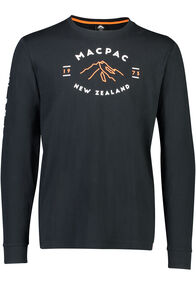 Macpac Long Sleeve Tee - Men's, Black, hi-res