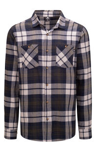 Macpac Porters Organic Cotton Flannel Shirt — Men's, Moonbeam/Peat, hi-res