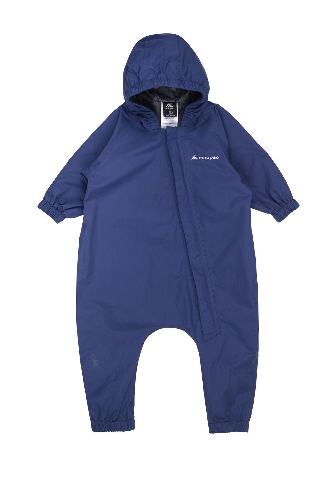 Macpac Dew Drop Onesie — Baby, Medieval Blue, hi-res