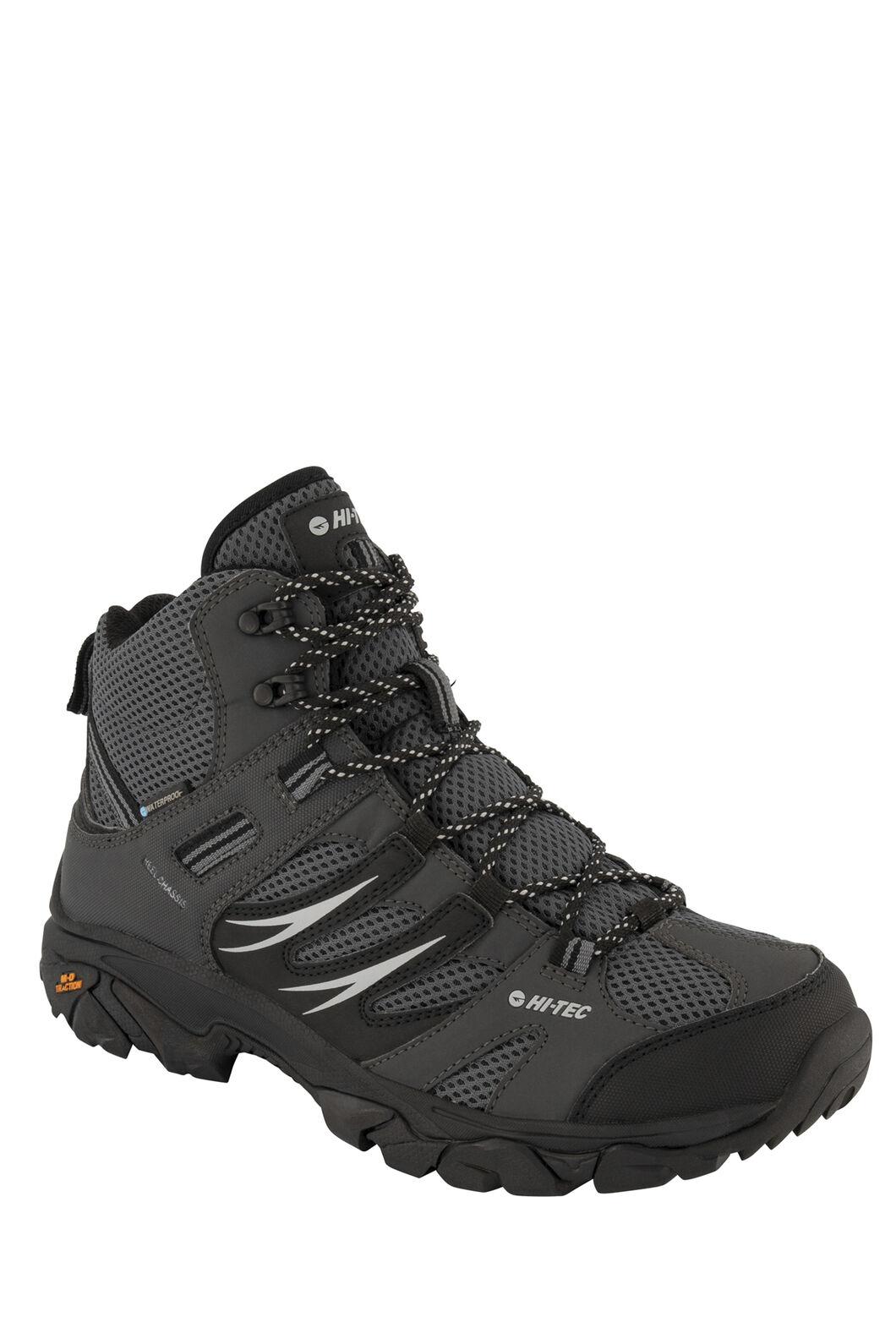 Hi-Tec Men's Tarantula Mid WP Hiking Shoes, Charcoal/Black Steel Grey, hi-res