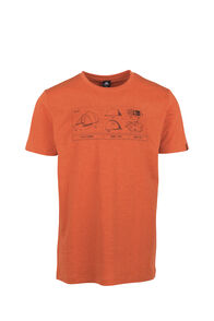 Macpac Blueprint Organic Tee - Men's, Burnt Orange Marle, hi-res