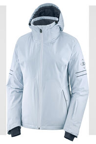 Salomon Brilliant Women's Insulated Ski Jacket, Kentucy/White/Ebony, hi-res
