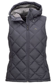 Macpac Zenith Hooded Down Vest — Women's, Carbon, hi-res