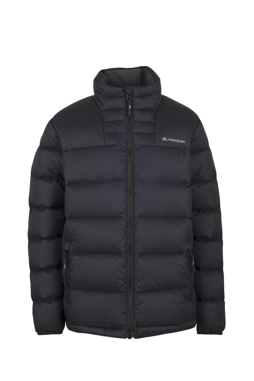 Macpac Atom Down Jacket — Kids', Black, hi-res