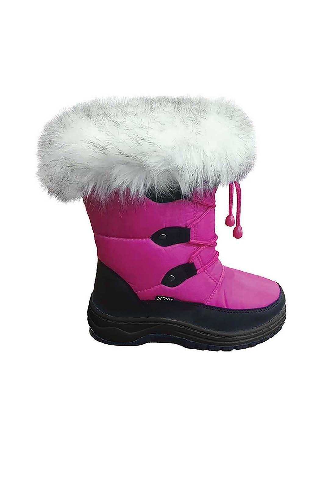 XTM Kids' Skyler Snow Boots, Hot Pink, hi-res