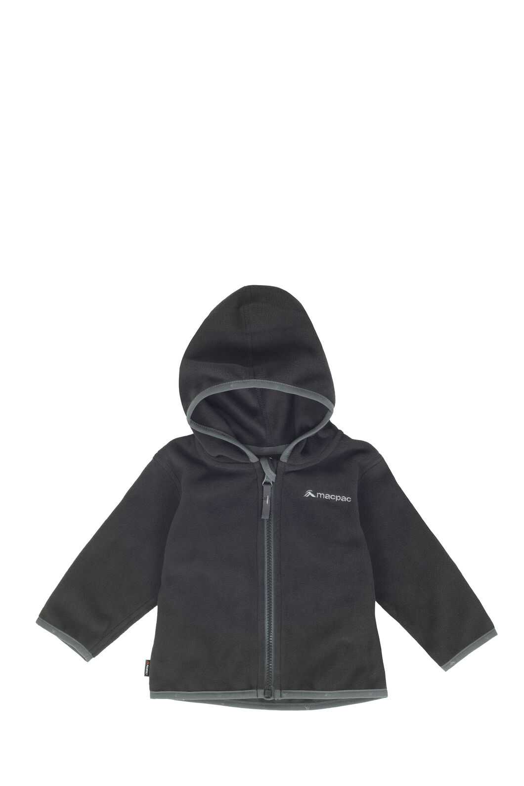 Macpac Mini Pepe Fleece Hoody - Baby, Black, hi-res