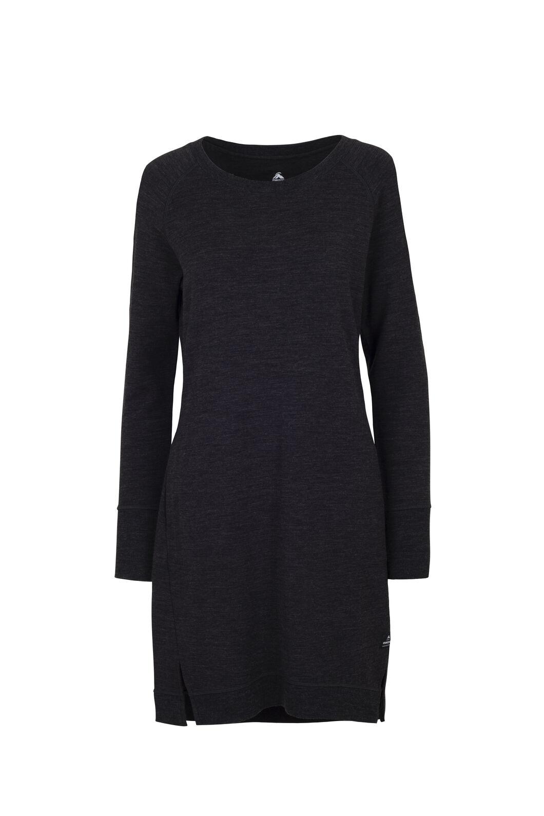 Macpac Platform Merino Dress — Women's, Charcoal Marle, hi-res