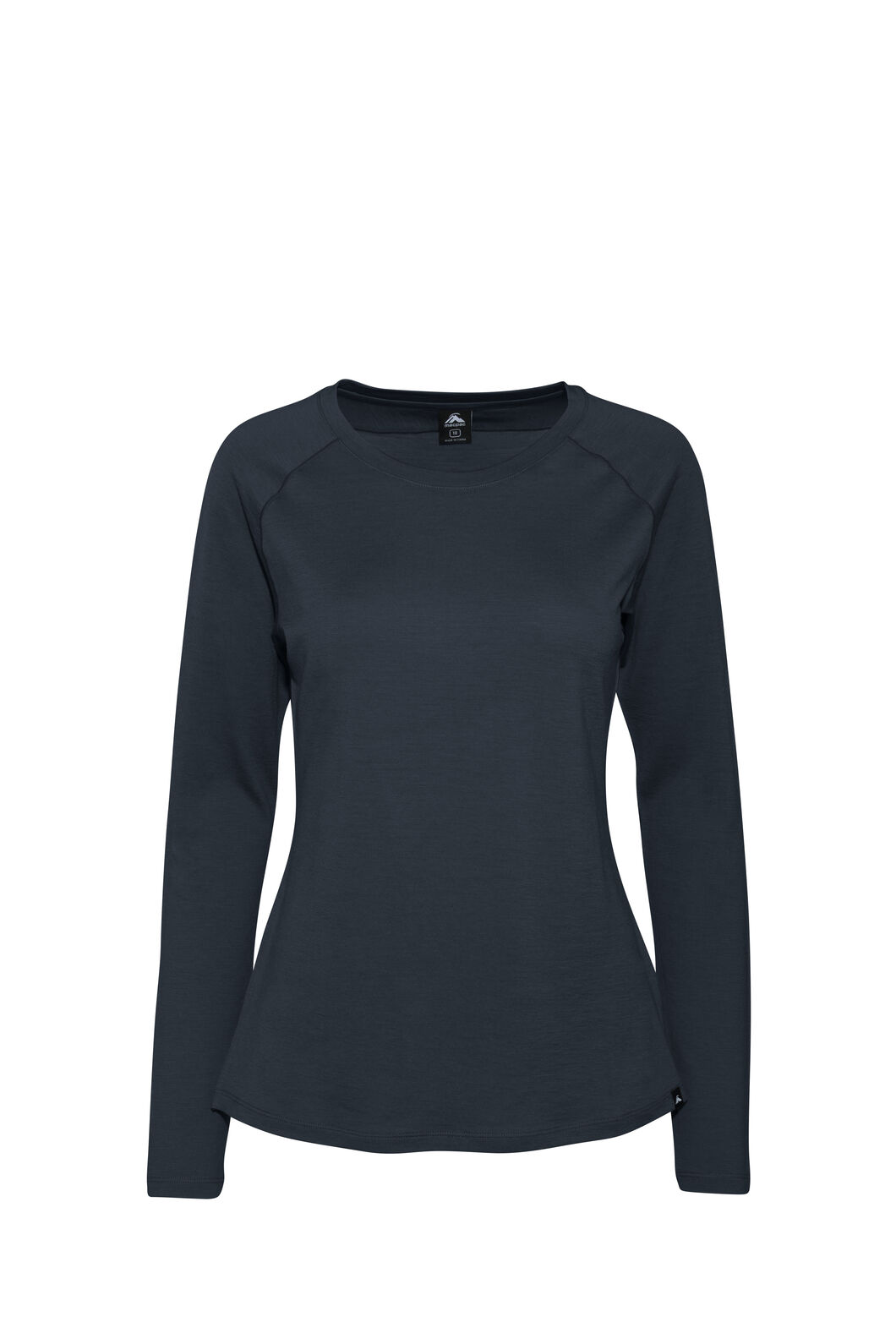 Macpac Ella Long Sleeve Merino Tee — Women's, Black Iris, hi-res