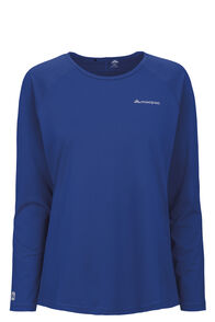 Macpac Eyre Long Sleeve Tee — Women's, Surf The Web, hi-res
