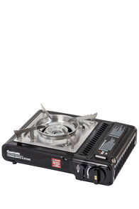Gasmate 2 Burner Butane Stove, Black/Stainless Steel, hi-res