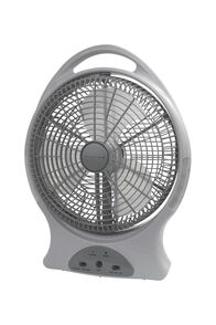 Wanderer Oscillating Rechargeable Fan — 12 inches, None, hi-res