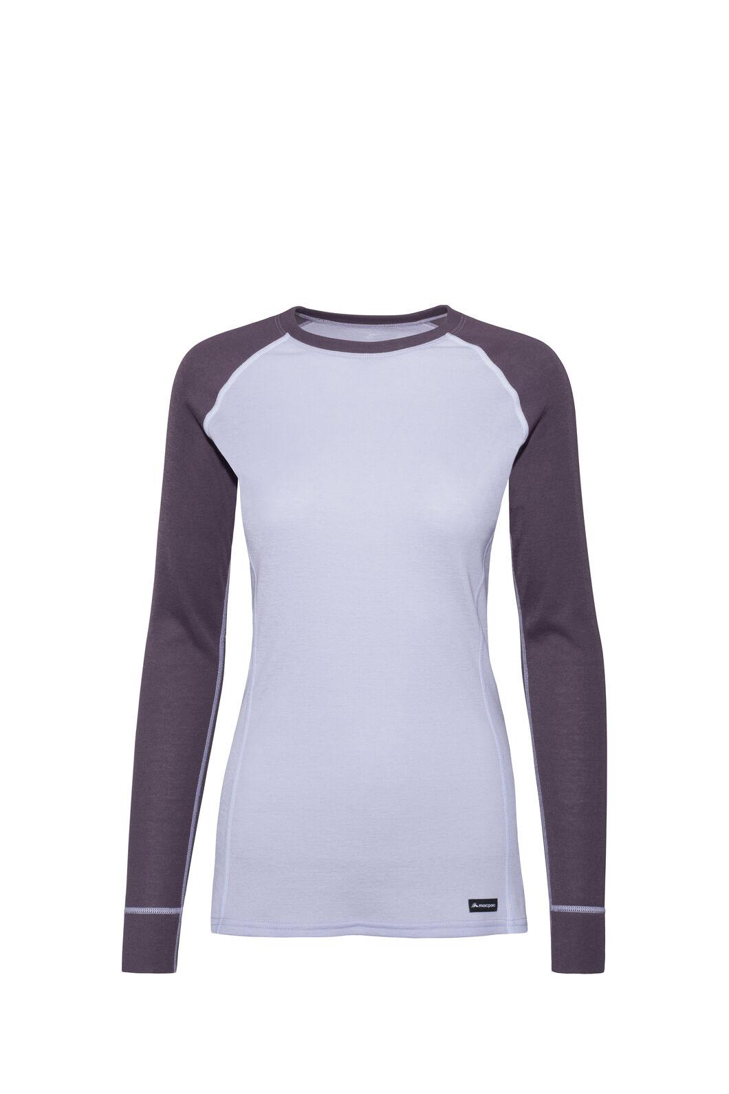Macpac Geothermal Long Sleeve Top — Women's, Vintage Violet/Purple Heather, hi-res