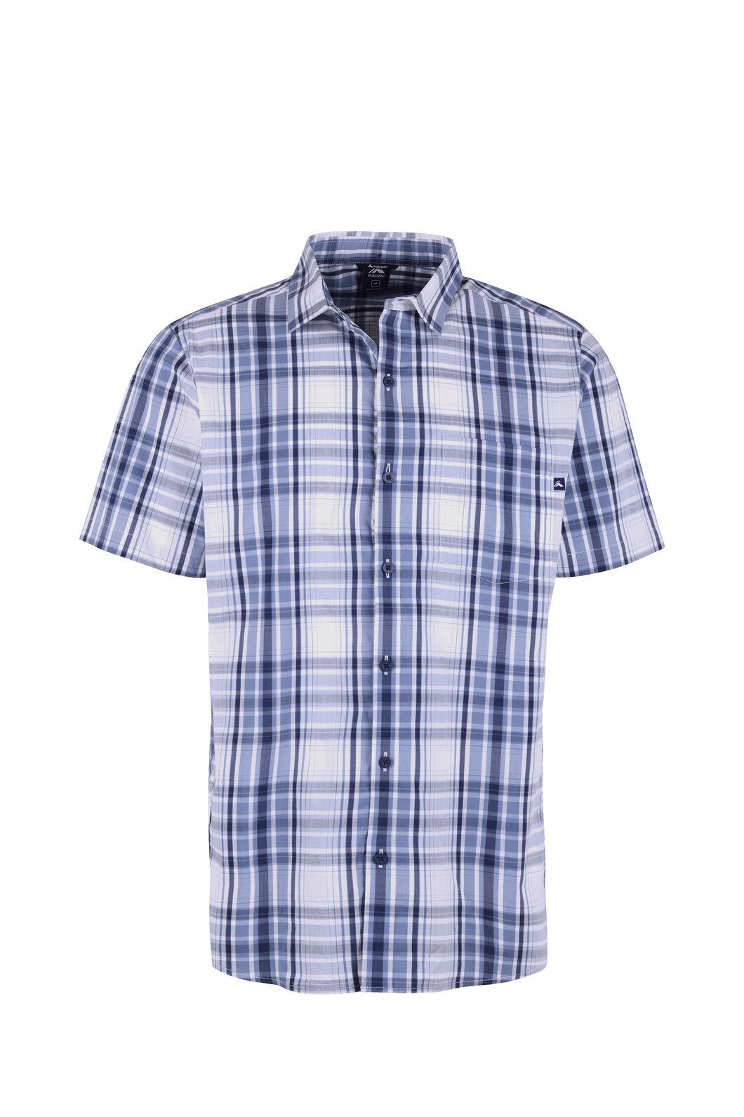 Macpac Crossroad Short Sleeve Shirt - Men's, Flint Stone, hi-res