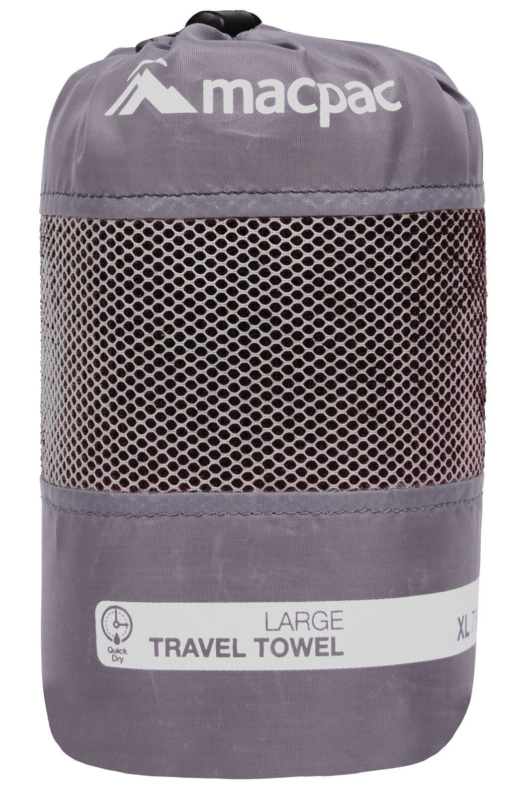 Travel Towel Large, Black, hi-res