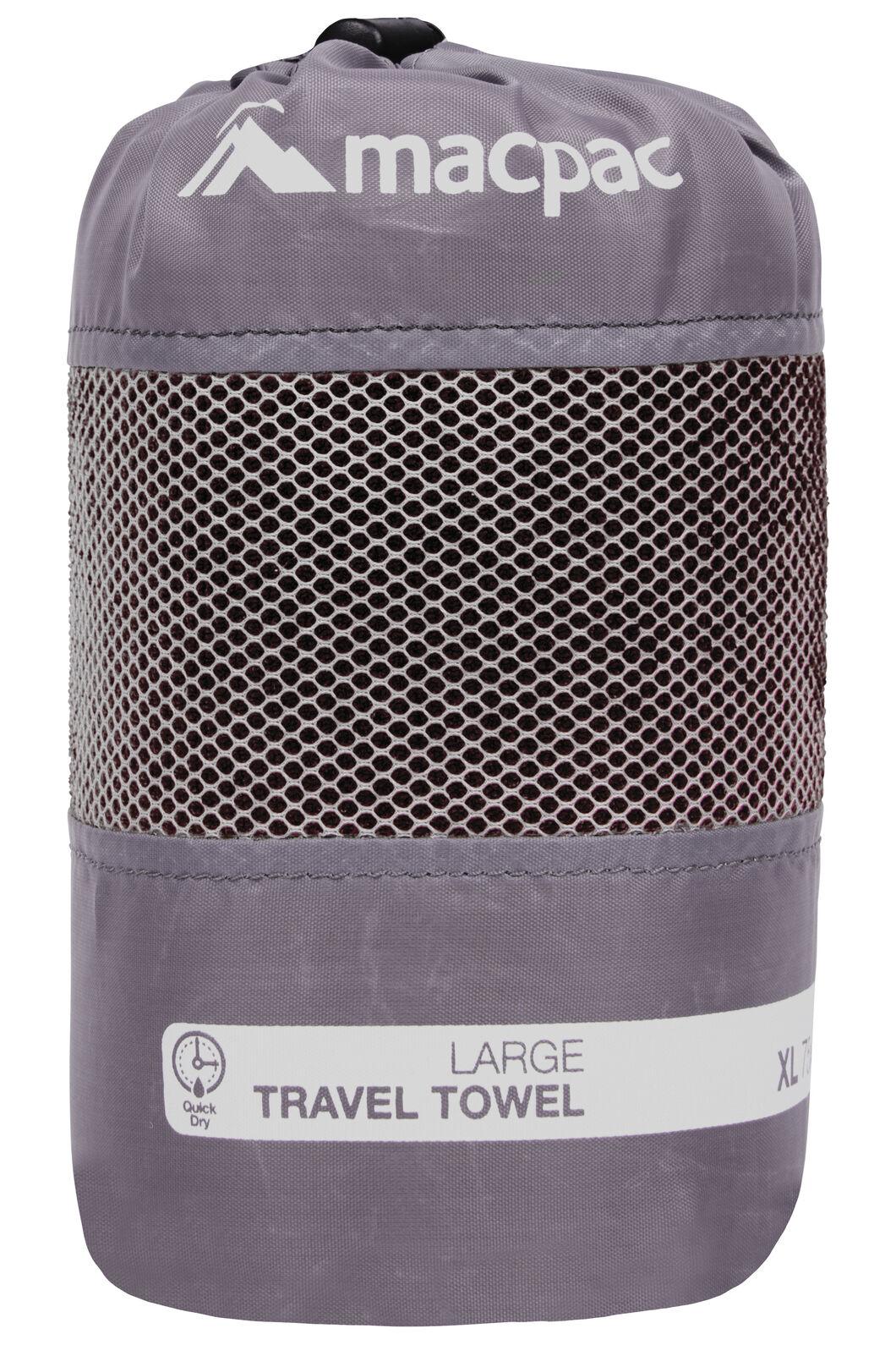 Macpac Travel Towel Large, Black, hi-res