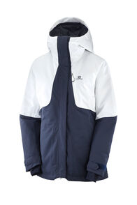Salomon QST Snow Jacket — Women's, Night Sky White, hi-res