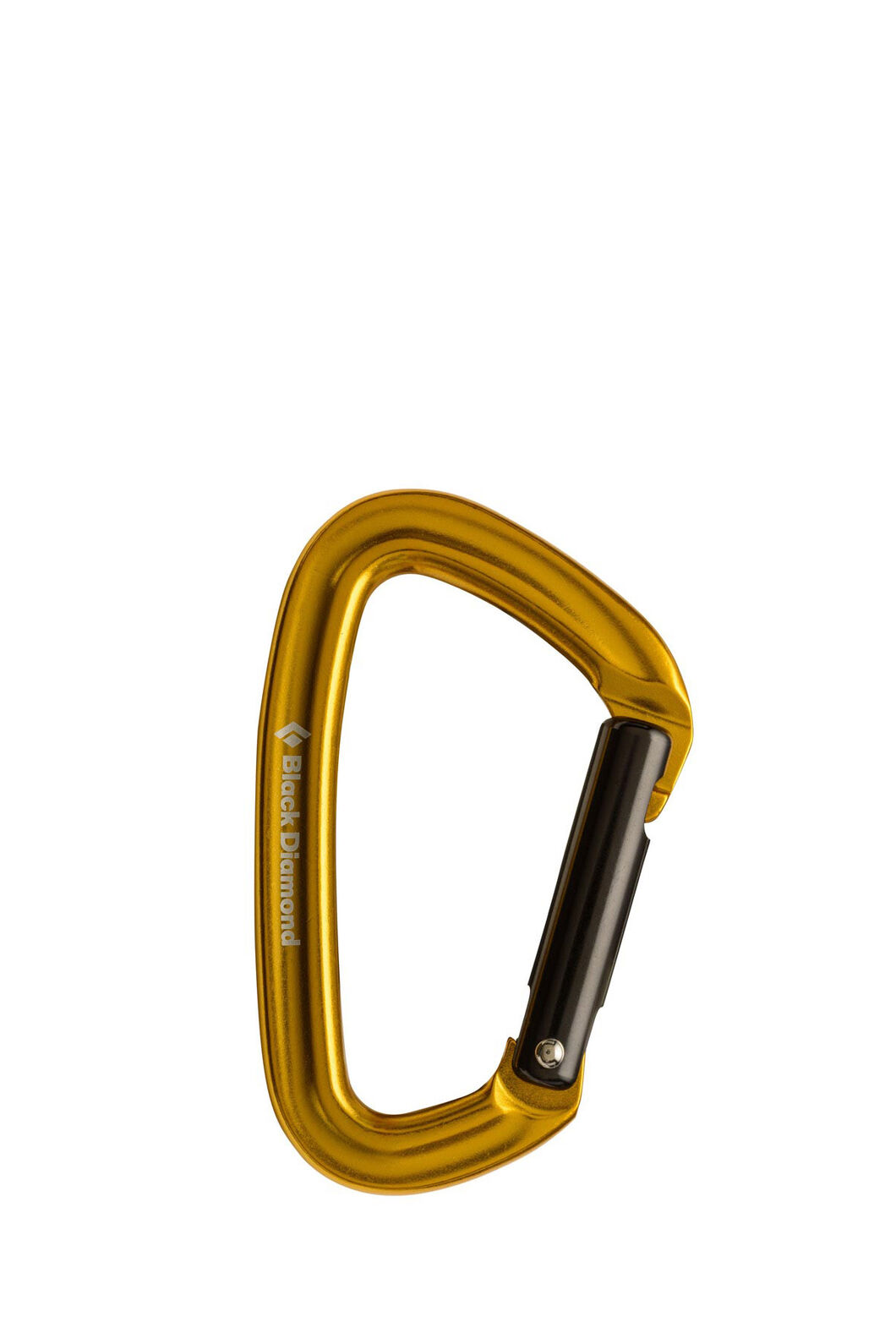 Black Diamond Positron Straight Gate Carabiner, Yellow, hi-res
