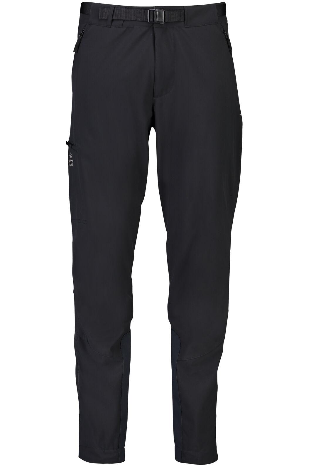 Macpac Fitzroy Alpine Series Softshell Pants — Men's, Black, hi-res