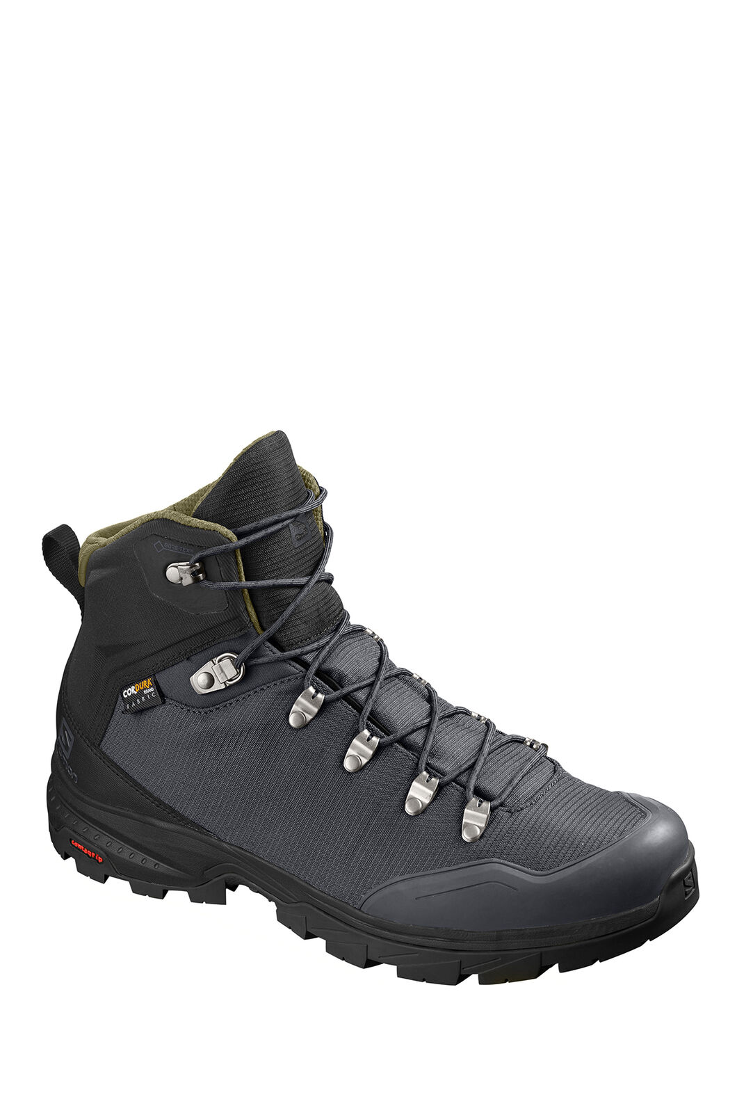 Salomon Outback 500 GTX WP Hiking Boots — Men's, Ebony/Black/Grape Leaf, hi-res