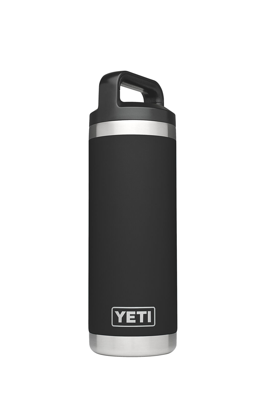 Yeti Rambler Drink Bottle Stainless Steel 18oz, Black, hi-res