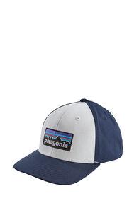 Patagonia P-6 Logo Roger That Hat, White/Classic Navy, hi-res