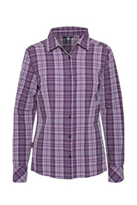 Macpac Women's Eclipse Long Sleeve Shirt, Blackberry Wine, hi-res