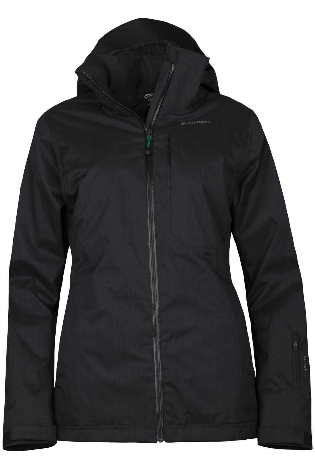 Macpac Powder Ski Jacket - Women's, Black/Black, hi-res