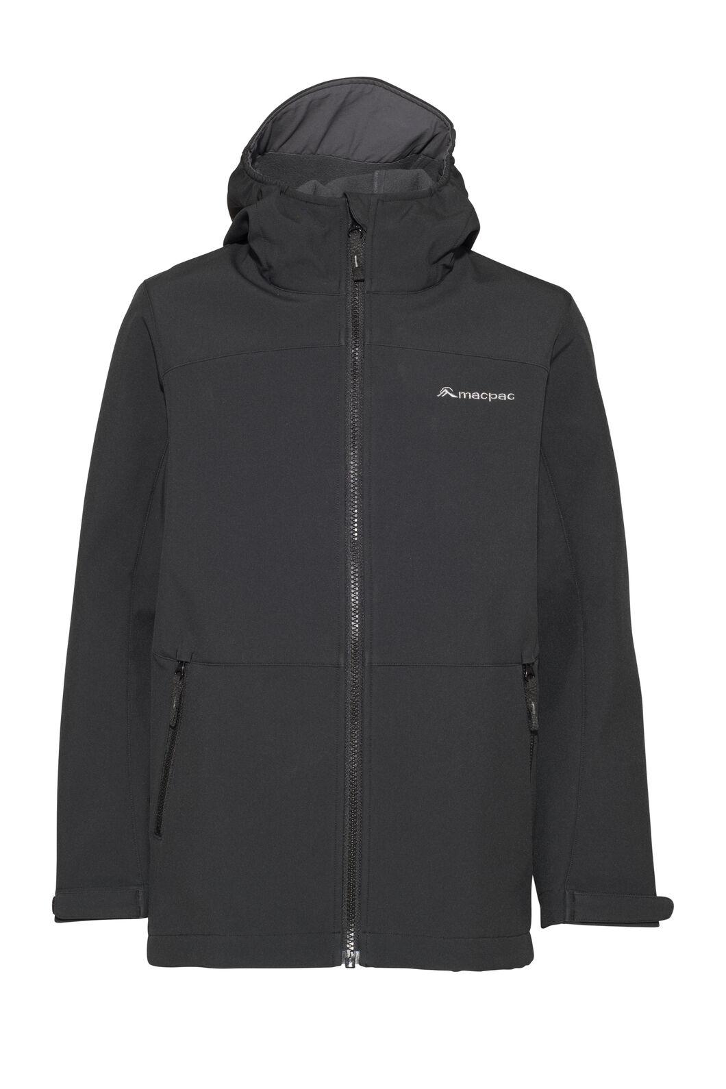 Macpac Sabre Hooded Jacket — Kids', Black, hi-res