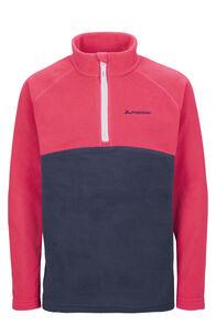 Macpac Tui Polartec® Fleece Pullover — Kids', Rasperry Wine/Black Iris, hi-res