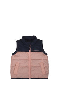 Macpac Atom Down Vest — Baby, Black Iris/Tropical Peach, hi-res