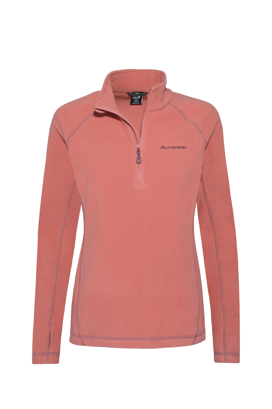 Macpac Tui Polartec® Micro Fleece® Pullover — Women's, Dusty Cedar, hi-res