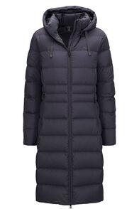 Macpac Women's Aurora Long Hooded Down Coat, Periscope, hi-res