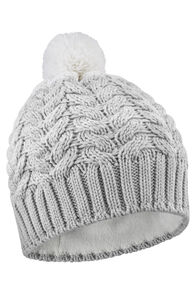 Salomon Poly Beanie, Luna Rock/White, hi-res