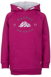 Organic Mountain Hoody - Kids', Sangria, hi-res