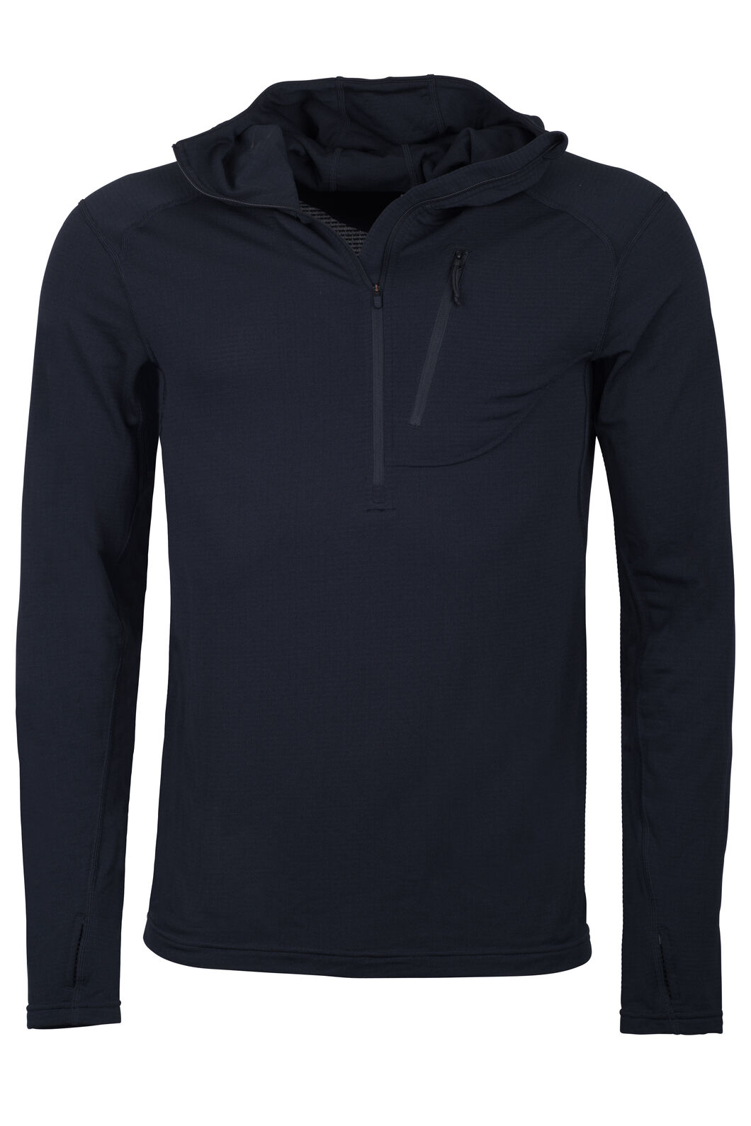Macpac Prothermal Polartec® Hooded Pullover — Men's, Black, hi-res